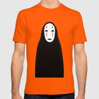 No Face Mens Fitted Tee Orange SMALL