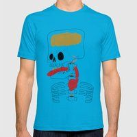 Square Skull...   Mens Fitted Tee Teal SMALL