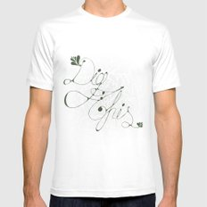 Dig This ! Mens Fitted Tee SMALL White