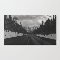 December Road Trip In Th… Canvas Print
