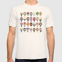 WOMEN WITH 'M' POWER Mens Fitted Tee Natural SMALL
