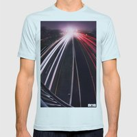 Passing By Mens Fitted Tee Light Blue SMALL