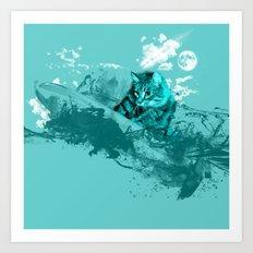 SURF DAY Art Print