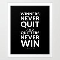 Winners Art Print