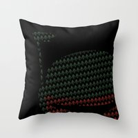 Throw Pillow featuring Peek-a-Boba by maclac