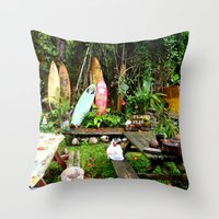 Typical Hawaii Pit Stop Throw Pillow