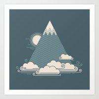 Cloud Mountain Art Print