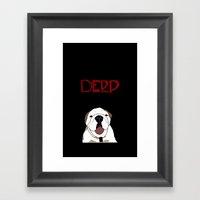 Derp Case 2 Framed Art Print