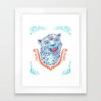 Cat Glasses Framed Art Print