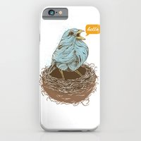 iPhone Cases featuring Twisty Bird by Rachel Caldwell