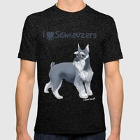 Schnauzer Mens Fitted Tee Tri-Black SMALL