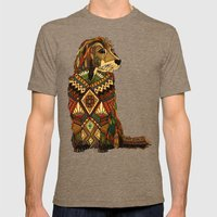 Golden Retriever ivory Mens Fitted Tee Tri-Coffee SMALL