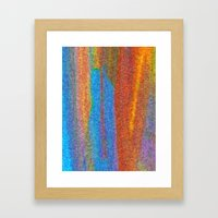 Orange Falls Framed Art Print