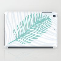 Palm Leaf in Blue and Green iPad Case