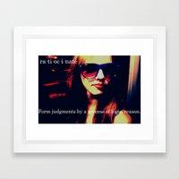 Ratiocinate.  Framed Art Print
