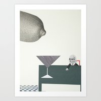 can i have a drink please Art Print