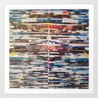 STRIPES 24 Art Print