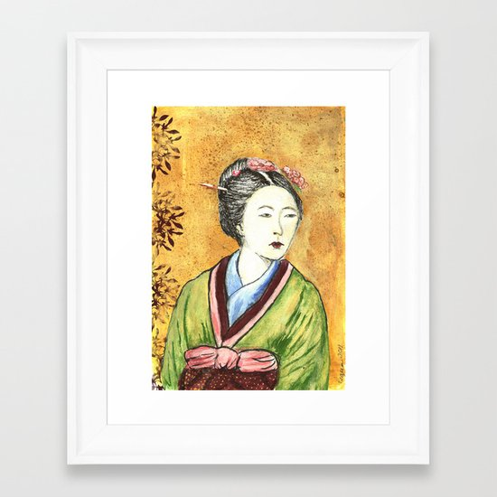 Japanese Woman Framed Art Print