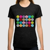 Cute bunnyballs Womens Fitted Tee Tri-Black SMALL