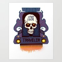 lost travler Art Print