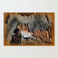The Little Old Hunter -s… Canvas Print