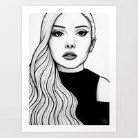 Self Portrait 2016 (B&W) Art Print