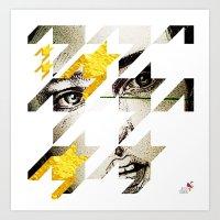 Maze Hound Art Print