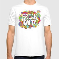 Freak Out! Mens Fitted Tee White SMALL