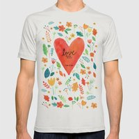 Love never fails Mens Fitted Tee Silver SMALL