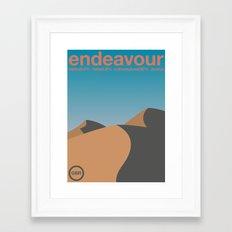 endeavour single hop Framed Art Print