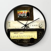 Stereo stack Wall Clock