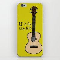 U Is For Ukulele iPhone & iPod Skin