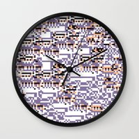 content-aware missingno Wall Clock
