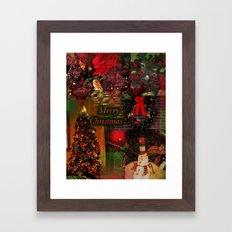 The Christmas collage merry christmas Framed Art Print