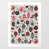 Birds And Baubles  Art Print