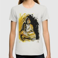 buddha Womens Fitted Tee Silver SMALL