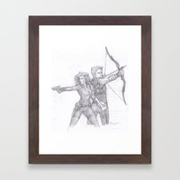 Black Widow and Hawkeye Framed Art Print