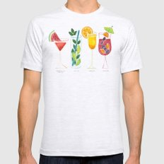 Summer Cocktails Mens Fitted Tee Ash Grey SMALL