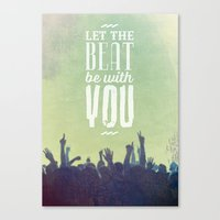 Let the beat Canvas Print