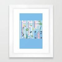 Four Freedoms Barcode Framed Art Print