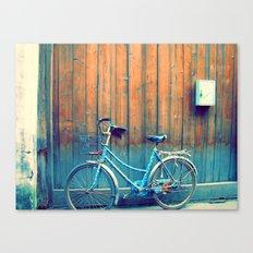 A Polka Dotted Bike Canvas Print