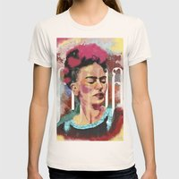 Frida Womens Fitted Tee Natural SMALL