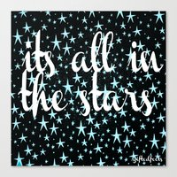 It's All In The Stars Canvas Print