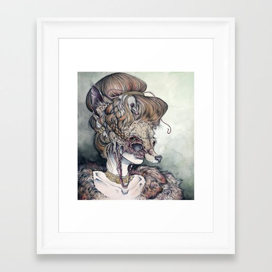 Vulpes Masquerade, now as a print! Framed Art Print