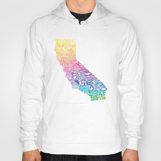 Typographic California - Springtime Hoody