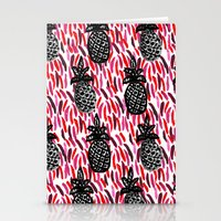 Weird Pineapples II Stationery Cards