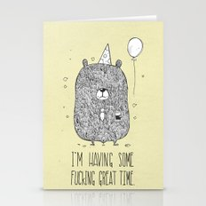Unemotional Bear Stationery Cards