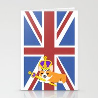 Crown Corgi Stationery Cards