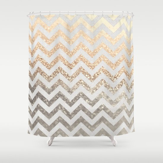 Gold Silver Shower Curtain By Monika Strigel Society6