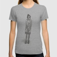Black Days (sketch) Womens Fitted Tee Athletic Grey SMALL